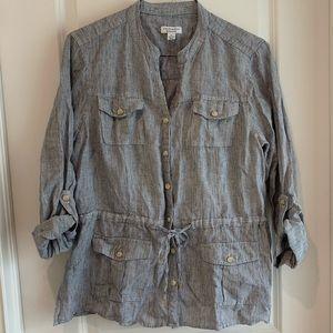 Charter Club weekend 100% linen XL shirt